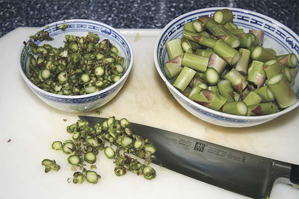 Soupe asperges poireaux - prep5